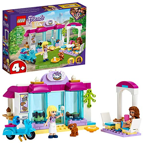 LEGO Friends Heartlake City Bakery 41440 Building Kit; Kids Café Toy Playset Friends Stephanie and Olivia; Collectible Toy, New 2021 (99 Pieces)