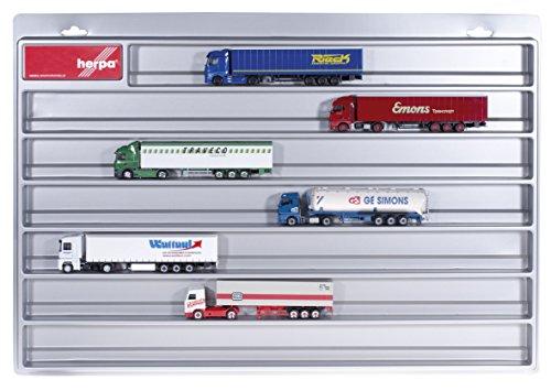 herpa 029711 029711-LKW-Schaukasten-Eurolänge, Hängevitrine für Modellautos und Flugzeuge mit Liebe zum Detail, Silber