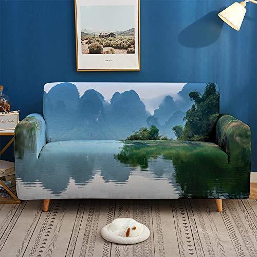 CC.Stars Fundas de sofá y sillones,Fundas 3D para sofás, Funda de sofá elástica elástica, Funda de sofá de 1/2/3/4 plazas, Fundas de sofá para salón-BDB65_4-plazas 235-300cm