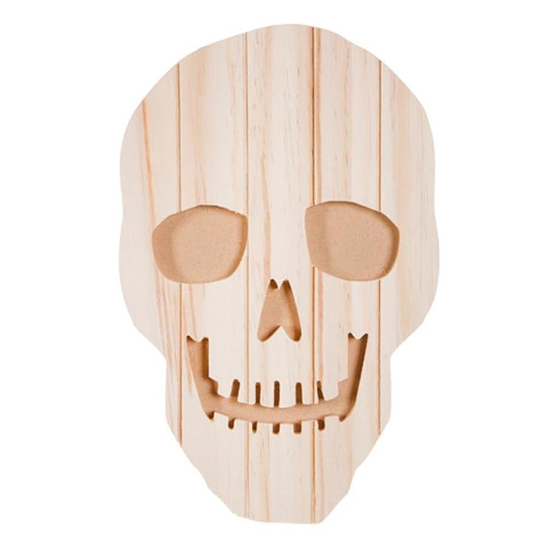 Darice 30005441 Carved Pallet Skeleton Face - Unfinished - Wood