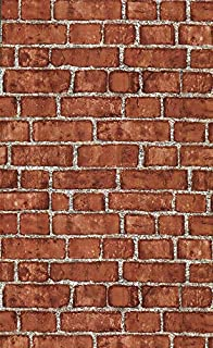 Vinyl Self Adhesive Brick Wallpaper 1.48ft x 9.8ft Red Textured Peel and Stick Wallpaper for Bedroom Livingroom Wall