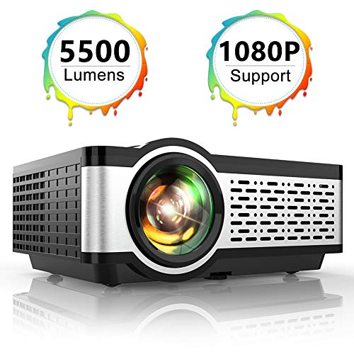 TOPTRO Portable Projector,5500 Lumens Video Projector Support 1080P,200' Display,HiFi...