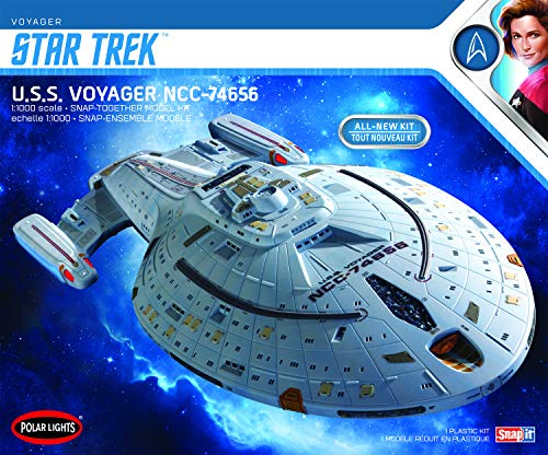 Polar Lights Star Trek U.S.S. Voyager (Snap) 2T 1:1000 Scale Model Kit