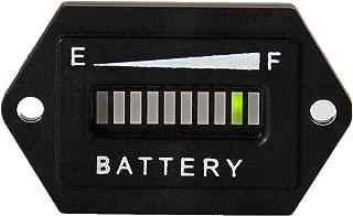 Searon 36 Volt LED Battery Indicator Meter Gauge Hex for Club Car Yamaha Golf Cart Solar Panel Marine Trolling Motor