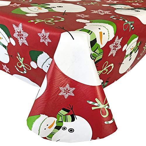 Snowman Christmas Tablecloth