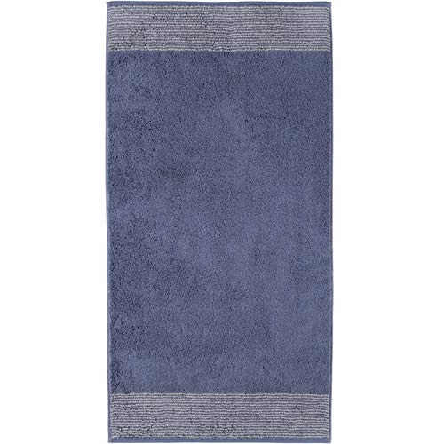 Cawö Home Handtücher Luxury Home Two-Tone 590 Nachtblau - 10 Handtuch 50x100 cm