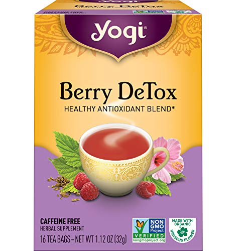 Yogi Tea - Berry DeTox - Healthy Antioxidant Blend - 6 Pack, 96 Tea Bags Total