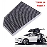 Cabin Air Filter Replacement Carbon Fiber for Tesla Model X P90D X75 P100D 2016-2017