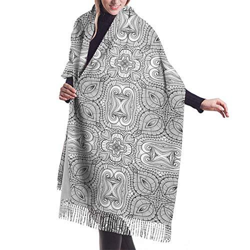 Shanghaiqianyushi New Kerstcadeau, imitatie Kasjmier, kwastje, etnische sale in autumn en winter, warm polyester, scarf, cadeau voor meisjes