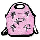 Bolsa de almuerzo para hombres bolsa de almuerzo almuerzo caja bolsa de comida Geometría diseño negro estrella punto camino flecha espejo simple