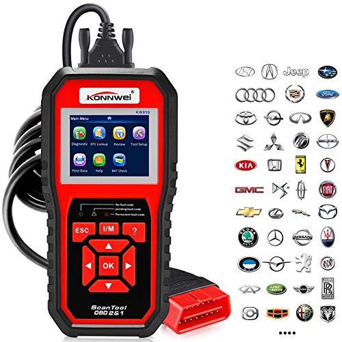 OBD2 Scanner KONNWEI Code Reader OBD II Auto Diagnostic Code Scanner OBD EOBD Car Engine Fault CAN Diagnostic Scan Tool with I/M Readiness (Upgraded Version)