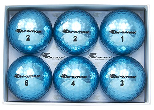 Chromax Golfbälle Metallic M5, bunt - 6 Stück, BCM56-BLU, blau