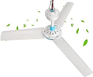 Mini Ventilador de Techo portátil, Ventilador de automóvil DC48v / 60v, Acampar al Aire Libre/Mercado de Verduras/Ventilador silencioso de Ahorro de energía