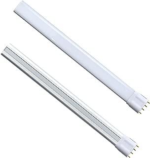 2G11 LED Light Bulb Lustaled 18W 2G11 LED Tube Pendant Lamps 1800 Lumens Horizontal Plug 2G11 Base LED 36W Fluorescent Tube Equivalent Daylight 6000K (Remove or Bypass Ballast, 2-Pack)
