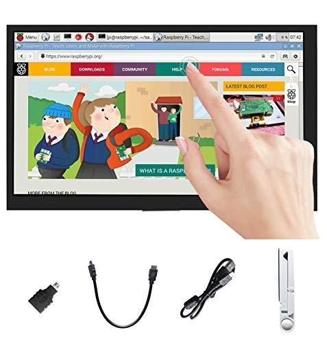 Ingcool Für Raspberry Pi Bildschirm 7 Zoll HDMI LCD Display Kapazitiver Touchscreen Monitor 1024x600 IPS Bildschirm für Raspberry Pi 4B 3B 3B+ Zero W, Jetson Nano, Windows 10 8 7, Xbox360, PS4