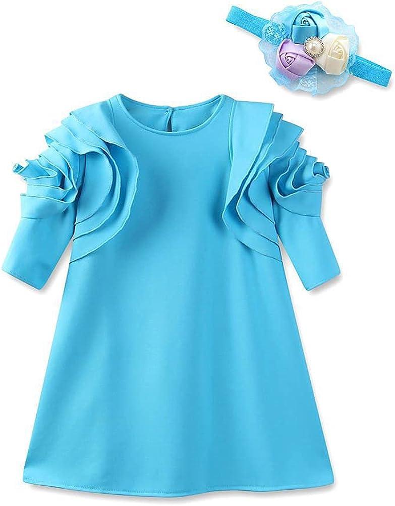 Girls Short Petal Sleeve Princess Party Finally resale start B Dress 25% OFF Formal for