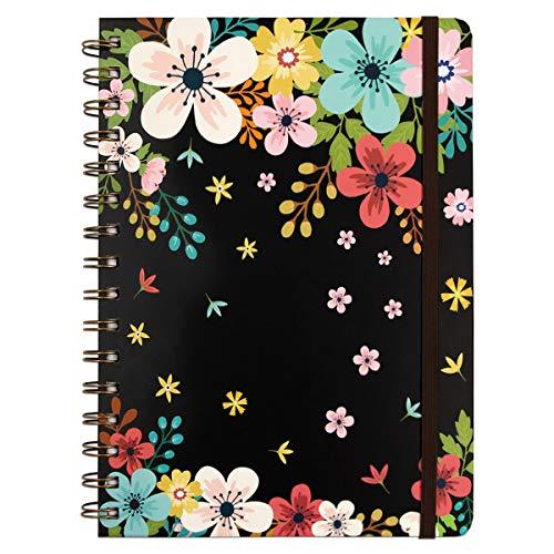Floral Spiral Notebook 8.25