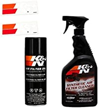 K&N Air Filter Large Size Service Kit Cleaner and Red Oil Plus 2 K&N Stickers Included
