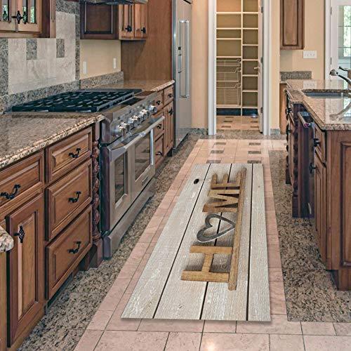 OPLJ Alfombra de Piso Sweet Home Mat Entrada Felpudo Autoservicio de lavandería Alfombra de baño Alfombra Decoración Balcón Alfombra Antideslizante A2 50x160cm