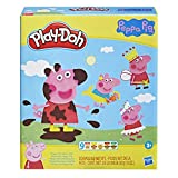 Play-Doh Peppa Pig Stylin Set with 9 Non-Toxic Modeling Compound Cans and 11 Accessories, Peppa Pig Toy for Kids 3 and Up