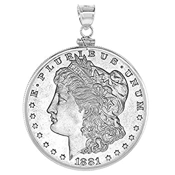 Sterling Silver Dollar Bezel 38 mm Screw Top Coin Edge Mexican Olympic One Dollar Coin NOT Included