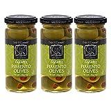 Sable & Rosenfeld Cocktail Garnishes - Earth Kosher - Vermouth Tipsy Pimento Olives - 3 Pack (5 oz each)