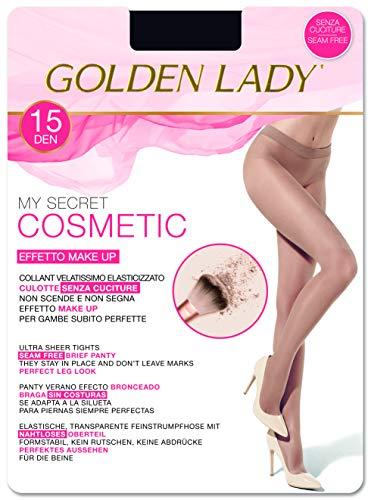 Goldenlady My Secret 15 3p Medias, 15 DEN, Negro (Negro 099a), Medium (Talla del fabricante: 3 – M) (Pack de 3) para Mujer