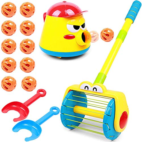 LUANXIU Automatic Ball Launcher for Kids, Puzzle Fun Launcher Toy, Electric Push Walker & Whirl Scoop A Ball Launcher Walker Set