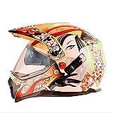 Casco Capacetes Motocross Helm ATV Moto Helm Cross Downhill Offroad Motorradhelm DOTo Nero gelb S