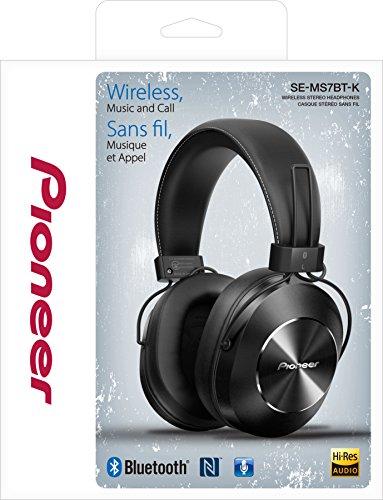 Pioneer SE-MS7BT-K - Auriculares de Tipo Diadema (Bluetooth, Hires, Power Bass, NFC), Color Negro