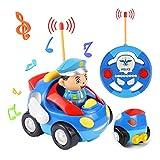 O-Kinee Macchina Telecomandata per Bambini, Giocattoli Bambino 2 Anni, Giocattolo Macchina Telecomandata, Regalo per Bambini per Auto con Telecomando, Auto Giocattolo per Bambini 2-8 Anni (Blu)