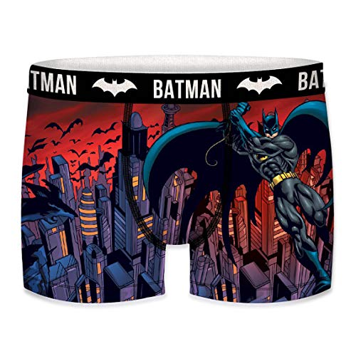 Justice League DC Comics Herren Boxershorts Gerechtigkeitsliga - 9X TOP Batman/Superman/Flash Design's in S/M/L/XL/XXL (L/6/50, Batman Fly)