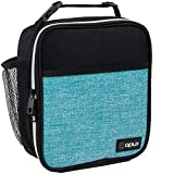 OPUX Premium Insulated Lunch Box | Soft Leakproof School Lunch Bag for Kids, Boys, Girls | Thermal Reusable Work Lunch Pail Cooler for Adult Men, Women, Office Fits 6 Cans (Turquoise)