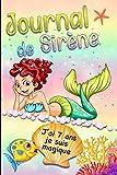 Journal de Sirène j'ai 7 ans je suis magique: Carnet de notes, journal intime Sirène pour enfant   101 pages   idée cadeau perlée   format 6 X 9   cahier ligné à la perle.