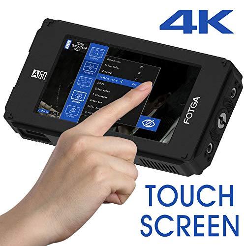 Fotga DP500IIIS A50T 5-Zoll FHD Video Camera Feldmonitor, Berühren Bildschirm Field Monitor,1920x1080,HDMI 4K Input/Output, Dual NP-F Batterieplatte für DSLR Kamera A7 A7S A7R 5D II III IV A9 GH5