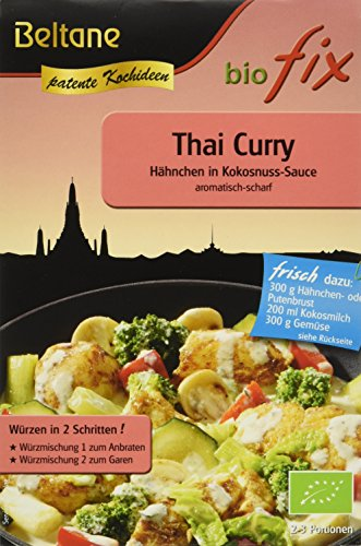 Beltane biofix Thai Curry - 2 Portionen, 2er Pack (2 x 20,9 g Packung) - Bio