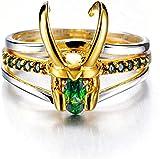 RRUUGK Anneaux Sterling Argent Thor Anneaux Sterling Silver Bijoux Bagues Cadeau pour Hommes et Femmes