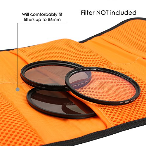 pangshi 6 Pocket Filter Wallet Case Compatible with Round or Square Filters