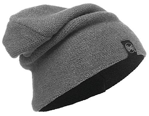 Set - Buff® Knitted Hat Bonnet de Hiver avec 15% Laine d'agneau + UP® Ultrapower Tissu Tubulaire   Tricoté   Doux   Aspect Vintage ou Beanie   Bonnet, Buff Design:731. Grey Pewter - 116028.906.10.00