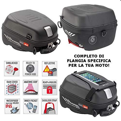 Bolsa de depósito ST605 Tanklock + brida de conexión BF50 Givi compatible con Suzuki V Strom 1050 2020