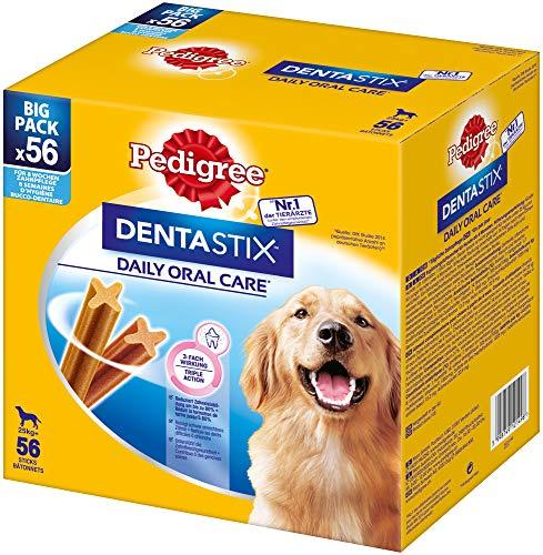 Pedigree DentaStix Daily Oral Care Zahnpflegesnack für große Hunde – Hundeleckerli mit Huhn- & Rindgeschmack für jeden Tag – 1 x 56 Stück