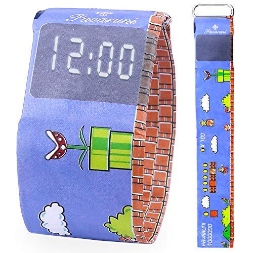 Pavaruni - Papier-Armbanduhr aus wasserdichtem Tyvek-Material - Digitale Anzeige - handgefertigt Familie und Freunde - in Holzbox (Mariq)