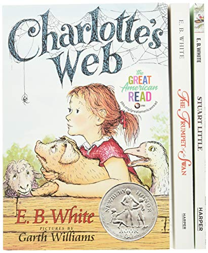 E. B. White Box Set: 3 Classic Favorites: Charlotte's Web, Stuart Little, The Trumpet of the Swan
