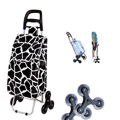 Tavalax Carrito de compras plegable & 6 ruedas & Carrito de compras...