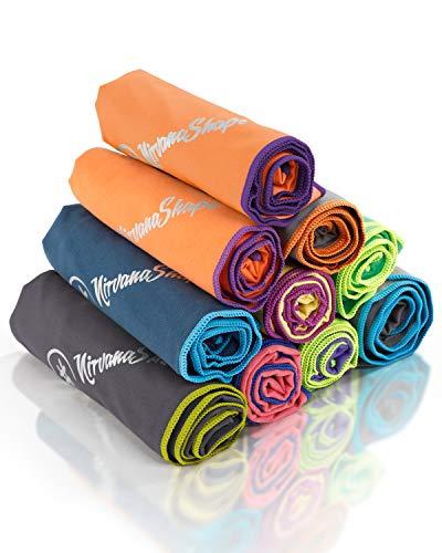 NirvanaShape ® Asciugamano Microfibra   14 Colori   8 Taglie   Asciugatura Rapida, Leggero, Assorbente   Asciugamano da Viaggio/Asciugamano da Bagno   Ideale per Viaggi, Spiaggia, Yoga, Sauna