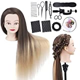 Training Head, WELIFYA Styling Head Doll, 30 inch Mannequin Doll with Long hair