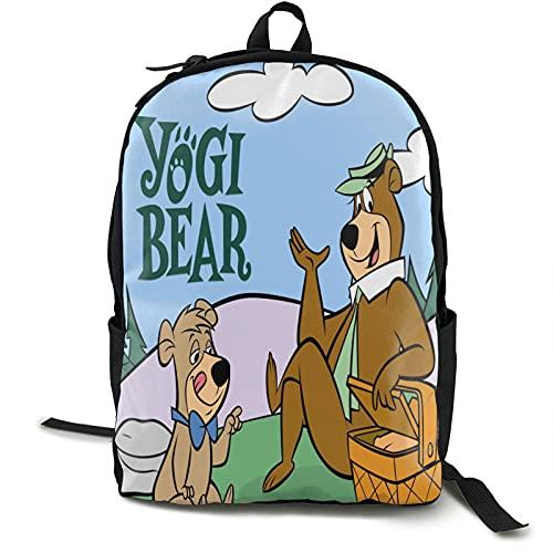 Yogi Bear Backpack Laptop Backpack College School Backpack Daypack Book Bag Computer Bag Laptop Travel Bag for Men Women Boys Girls