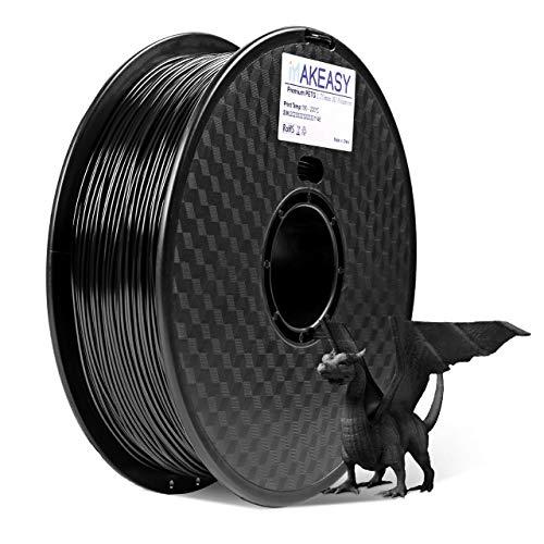 PETG 1.75 Filamento 1kg MAKEASY Filo 1.75mm PETG per Stampante 3D - Nero