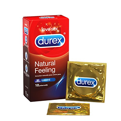 Durex Natural Sensation Kondom, latexfrei, 10 Stück