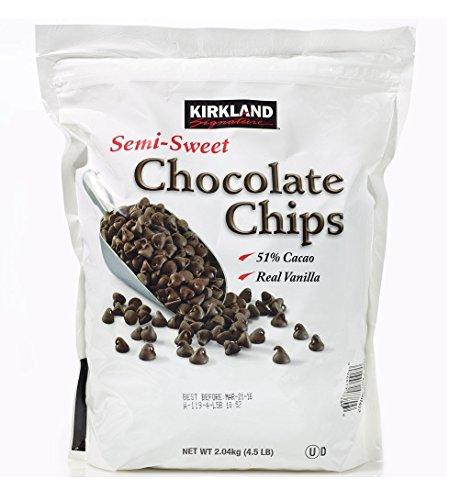 Kirkland Semi Sweet Chocolate Chips 2.04kg (Pack of 2)